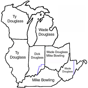 Douglass territory by salesman