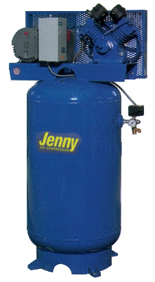 Jenny GT5B-80V 230V1Ph 5hp 80 gal vertical tank shop air w/ mag starter